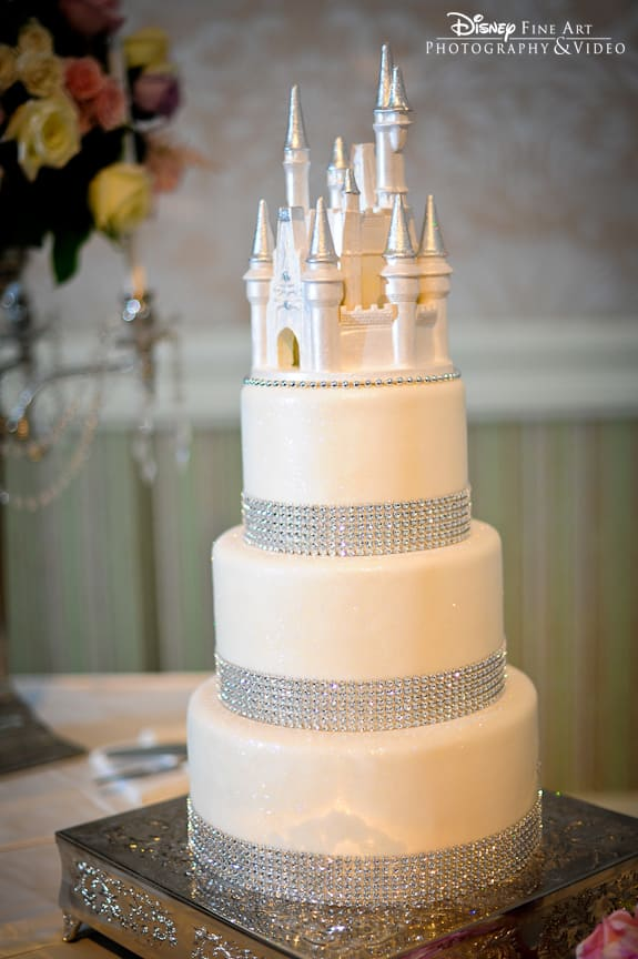 Wedding Cake Wednesday  White Bling Cake   Disney Weddings  Disney     Wedding Cake Wednesday  White Bling Cake