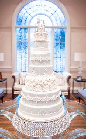 Wedding Cake Wednesday  A Cinderella Moment   Disney Weddings         Disney s Fairy Tale Wedding  Towering in all its regal glory  this  romantic confection is currently on display at Franck s Studio and all who  encounter