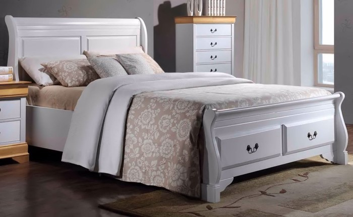 White High Sleeper And Kingsize Bed Frame Sleepland Beds
