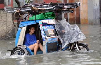 Image result for philippines flood tricycle