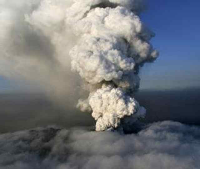 A Column Of Steam And Ash Rises From The Volcano Near Eyjafjallajokull