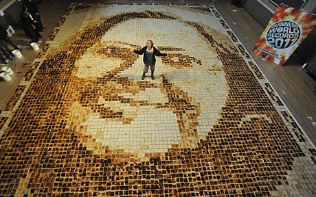 World's largest toast mosaic dedicated to mother-in-law's ...