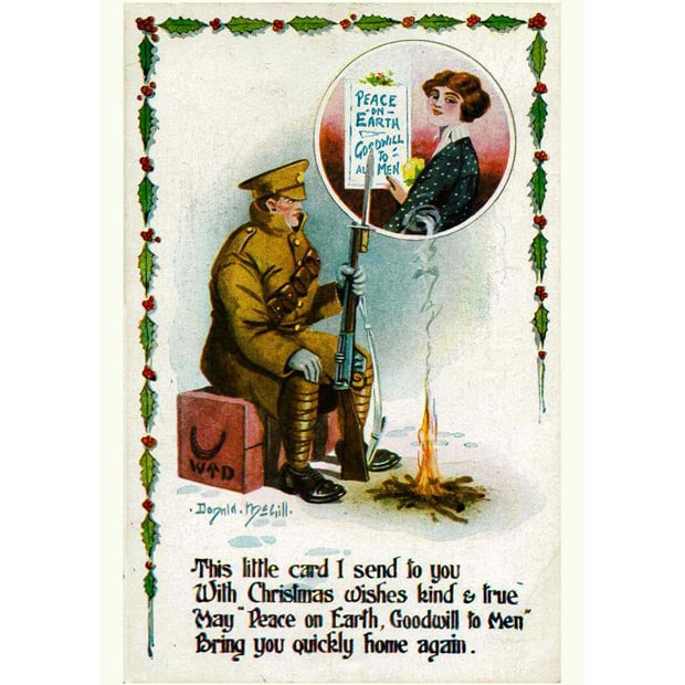 Saucy Donald McGill Christmas Cards Discovered Telegraph