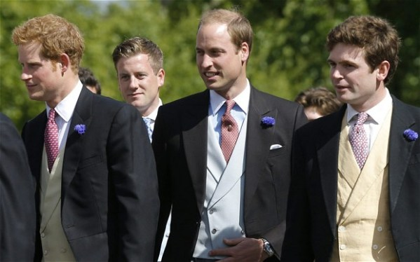 Duke of Cambridge and Prince Harry arrive at society ...