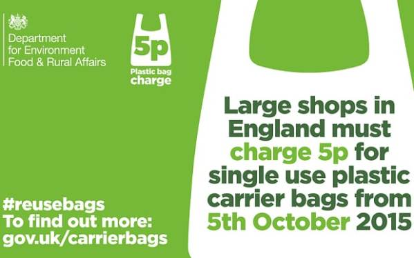 Plastic bag 5p charge cuts usage by almost 80 per cent ...