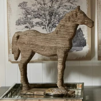 Three Posts Wesley Horse Table Decor Statue Amp Reviews