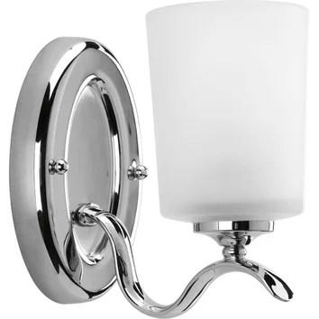 Progress Lighting Inspire 1 Light Bath Sconce & Reviews ... on Wayfair Bathroom Sconces id=63288