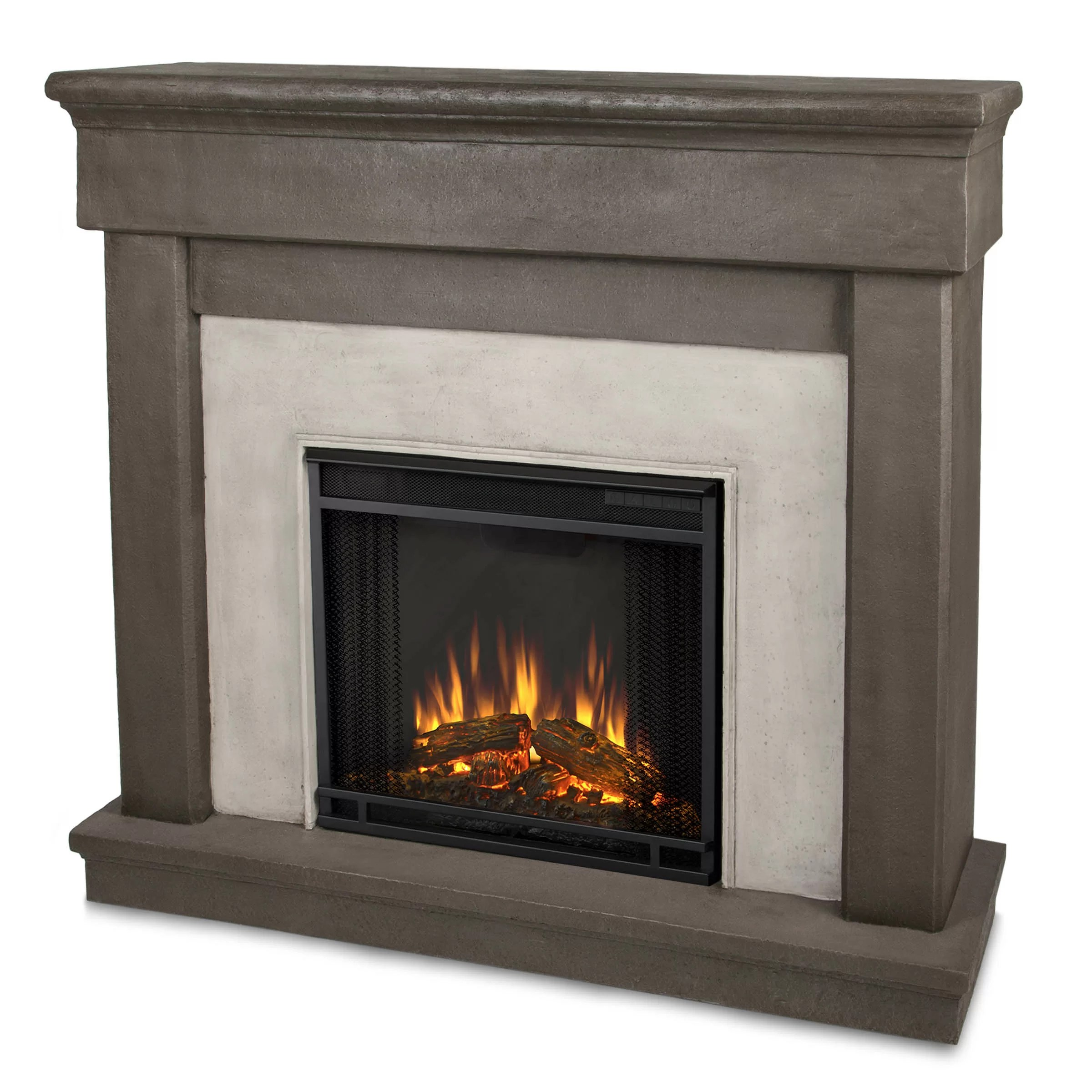 Real Flame Cast Mantel Cascade Electric Fireplace