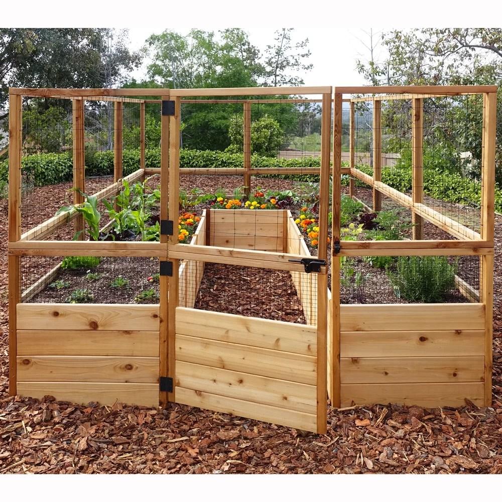 Outdoor Living Today Rectangular Raised Cedar Garden Bed ... on Garden And Outdoor Living  id=92896
