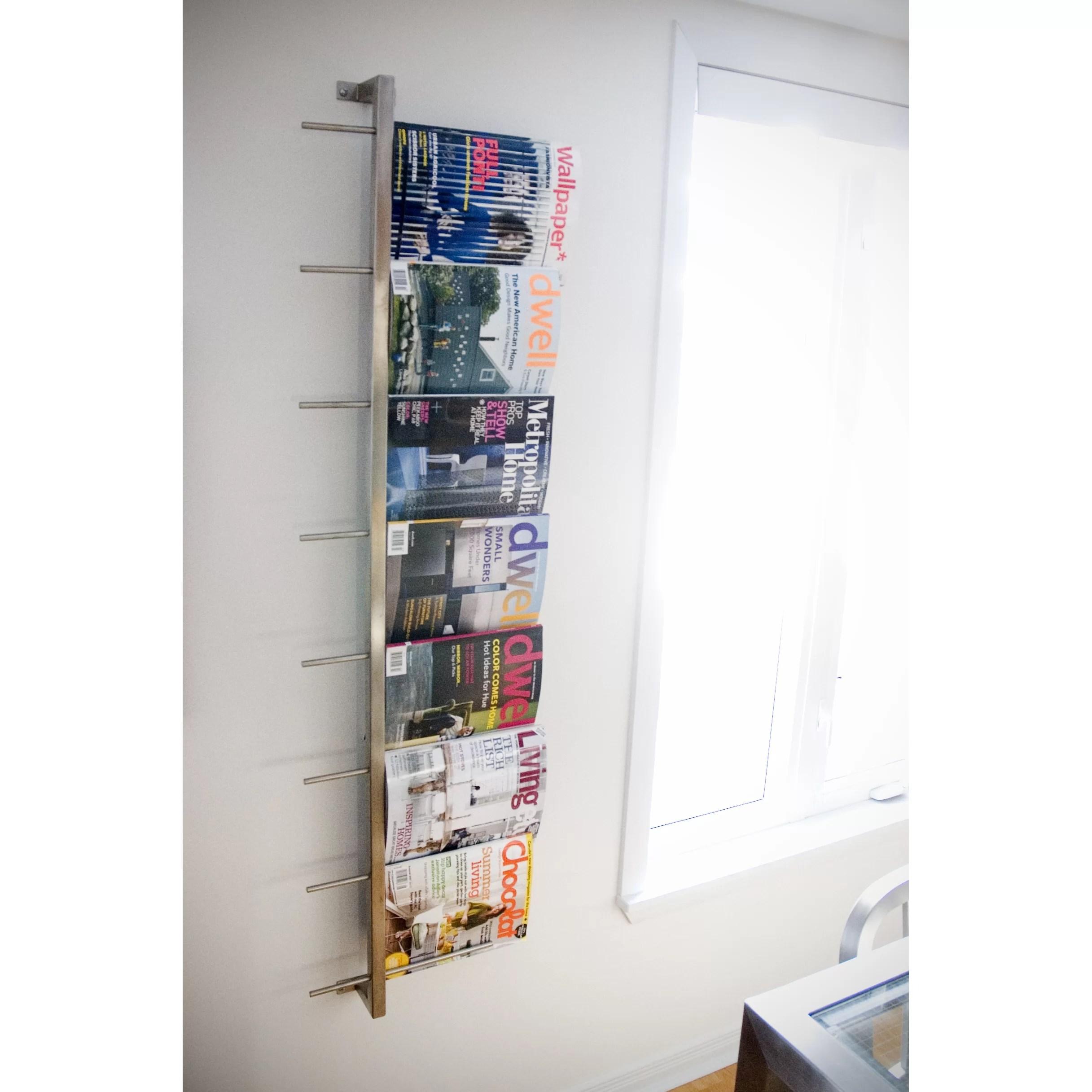 Gus Modern 2 Piece Wall Mounted Magazine Rack Amp Reviews