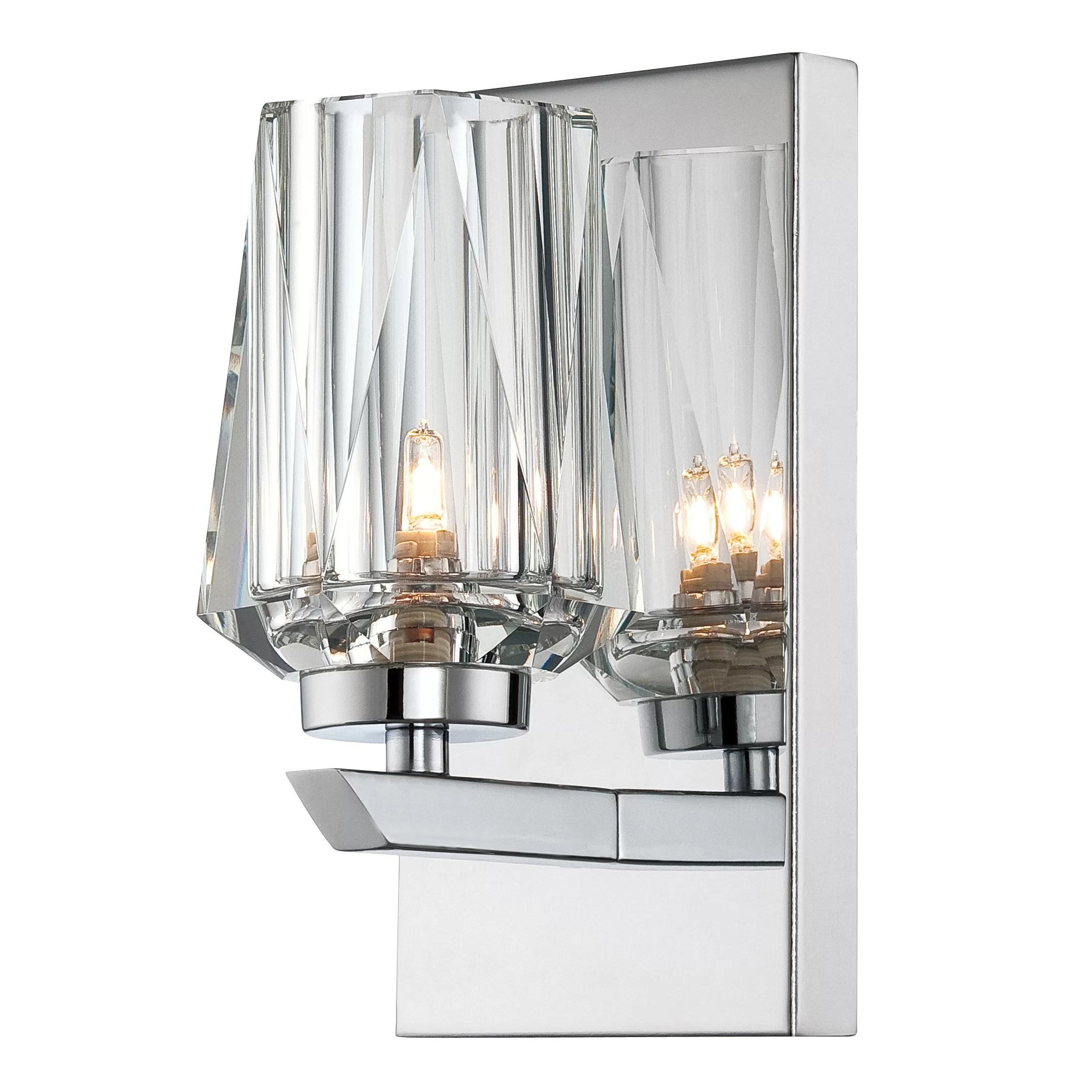 Alternating Current Ginsu 1 Light Bath Wall Sconce ... on Bathroom Wall Sconce Lighting id=25265