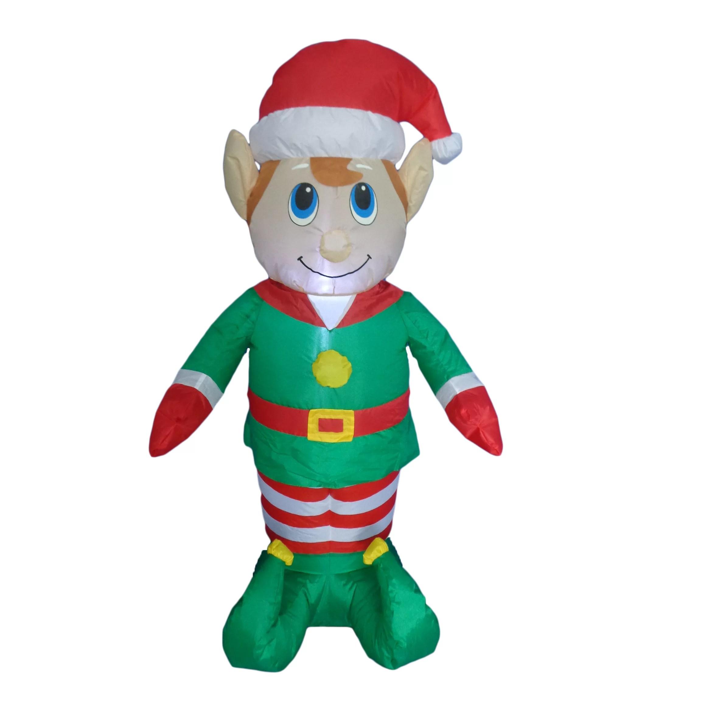 BZB Goods Christmas Inflatable Elf Amp Reviews Wayfair