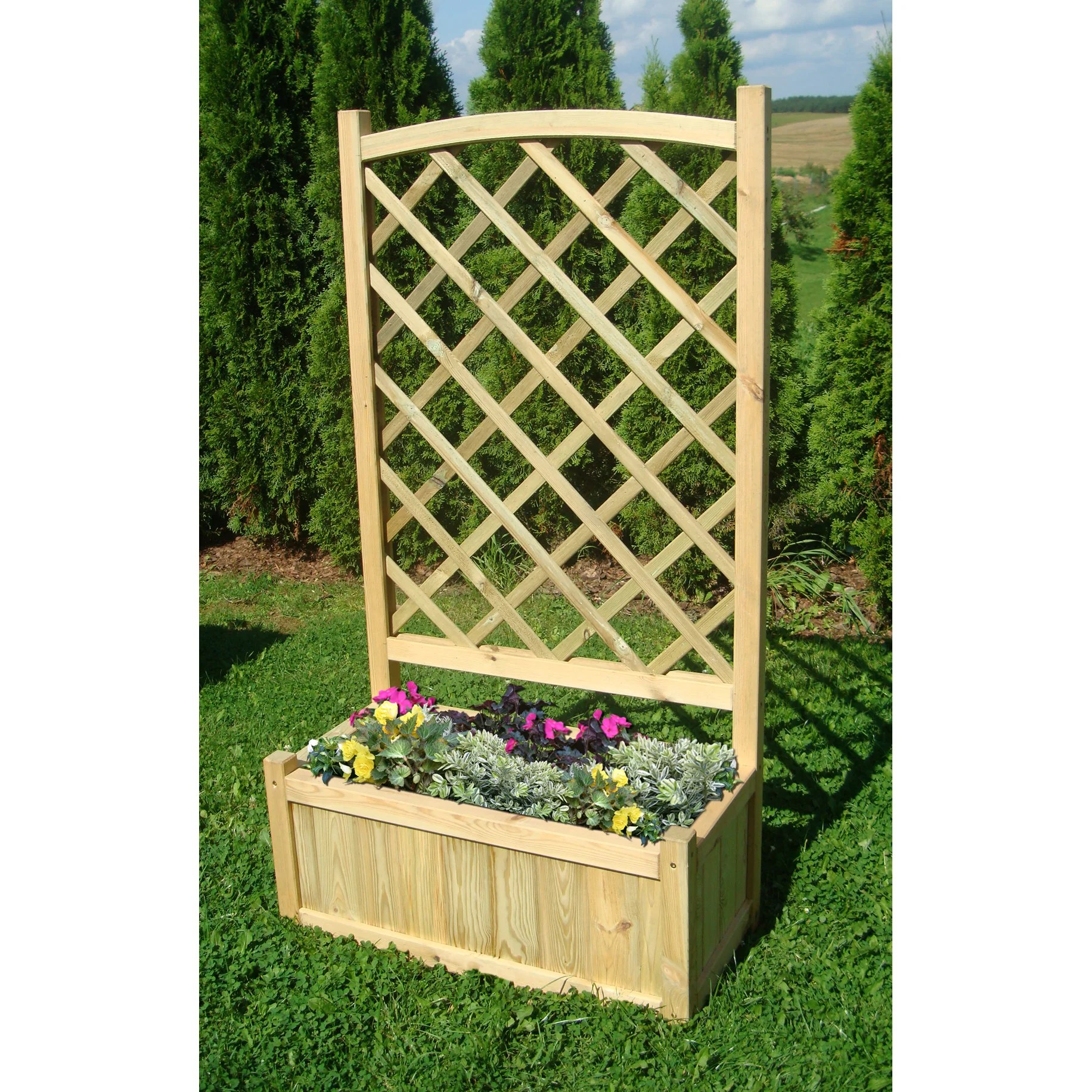 Leisure Planter Zest Oxford 4 Rectangular