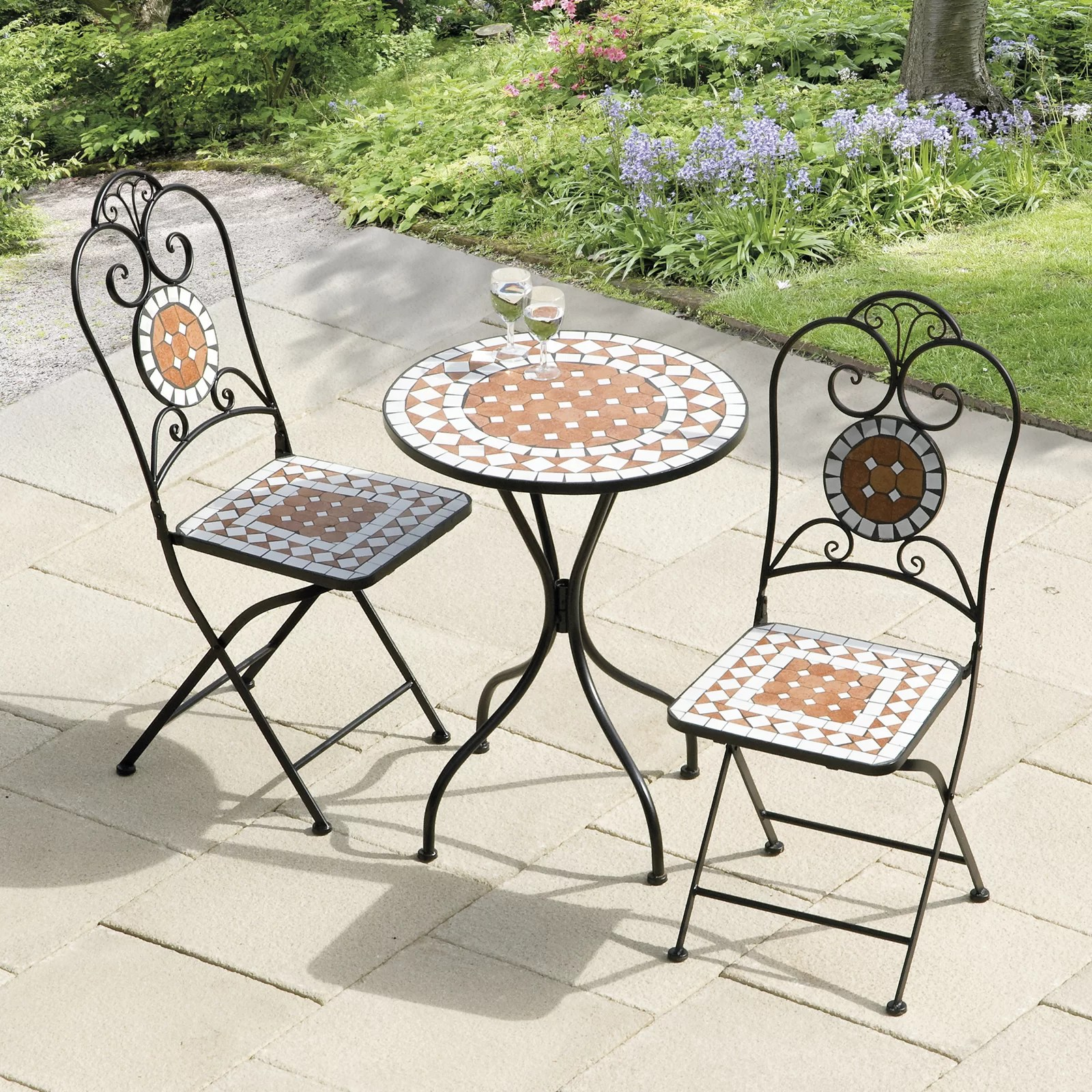 SunTime Outdoor Living Diamond Mosaic 3 Piece Bistro Set ... on Suntime Outdoor Living  id=65121