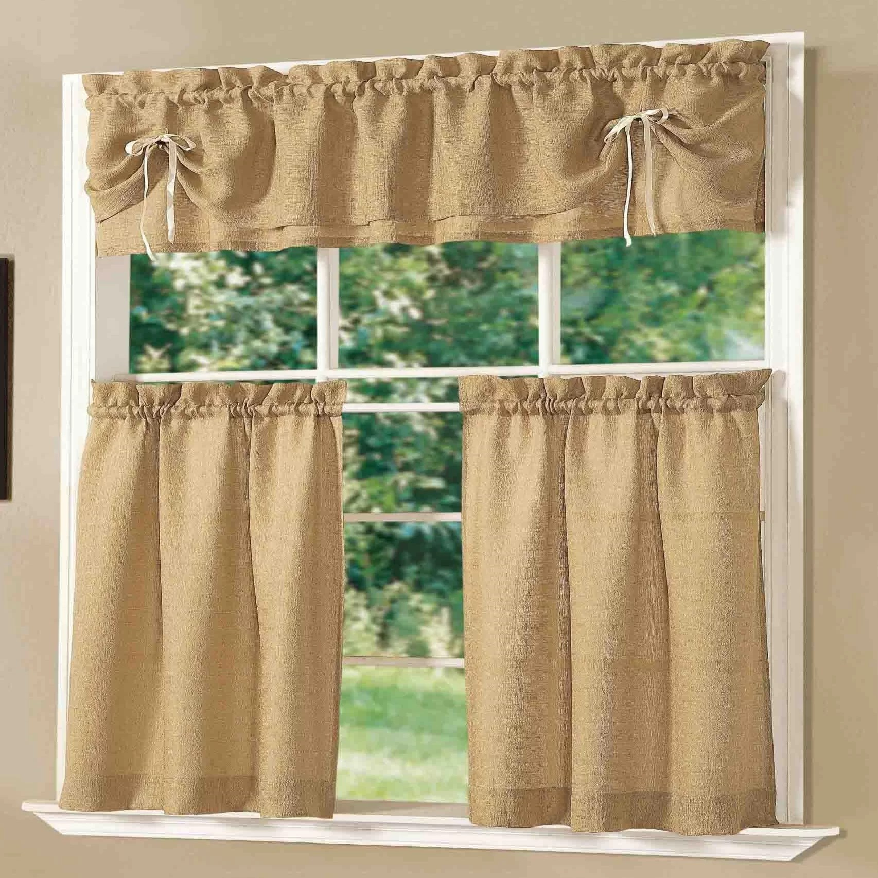 Dainty Home Lucia Kitchen Valance And Tier Set Amp Reviews