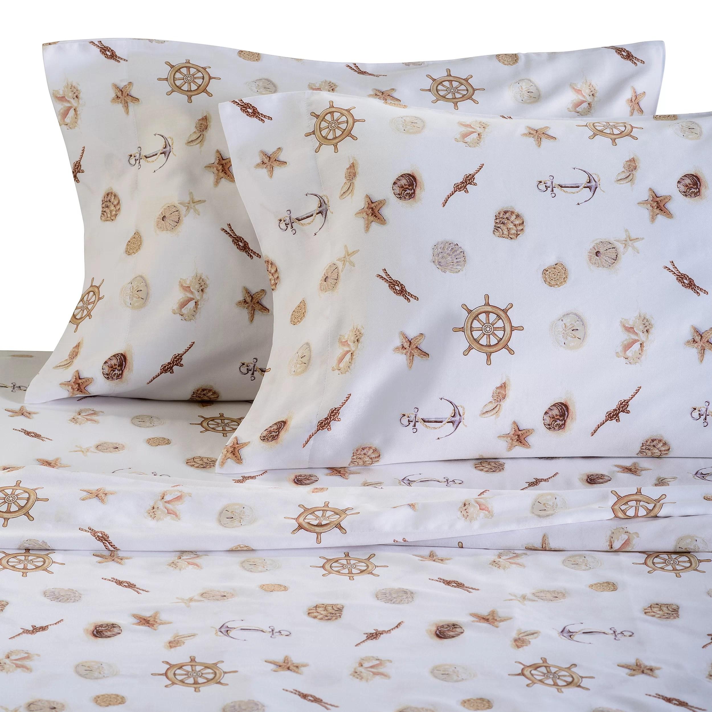 Panama Jack Nautical 300 Thread Count Cotton Sheet Set Amp Reviews