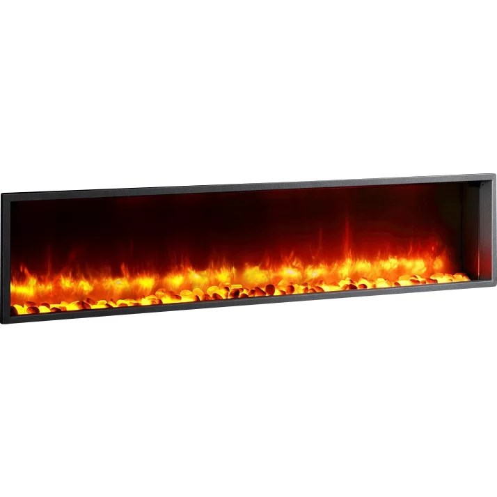 Dynasty 63 Quot Built In Led Wall Mount Electric Fireplace