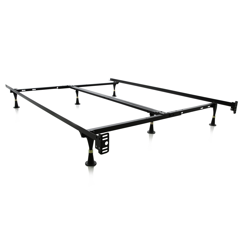 Malouf 6 Leg Adjustable Metal Bed Frame Amp Reviews