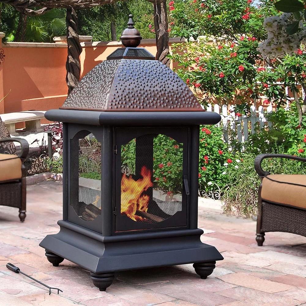 Sunjoy Cobbler Steel Outdoor Fireplace & Reviews | Wayfair on Quillen Steel Outdoor Fireplace  id=13188