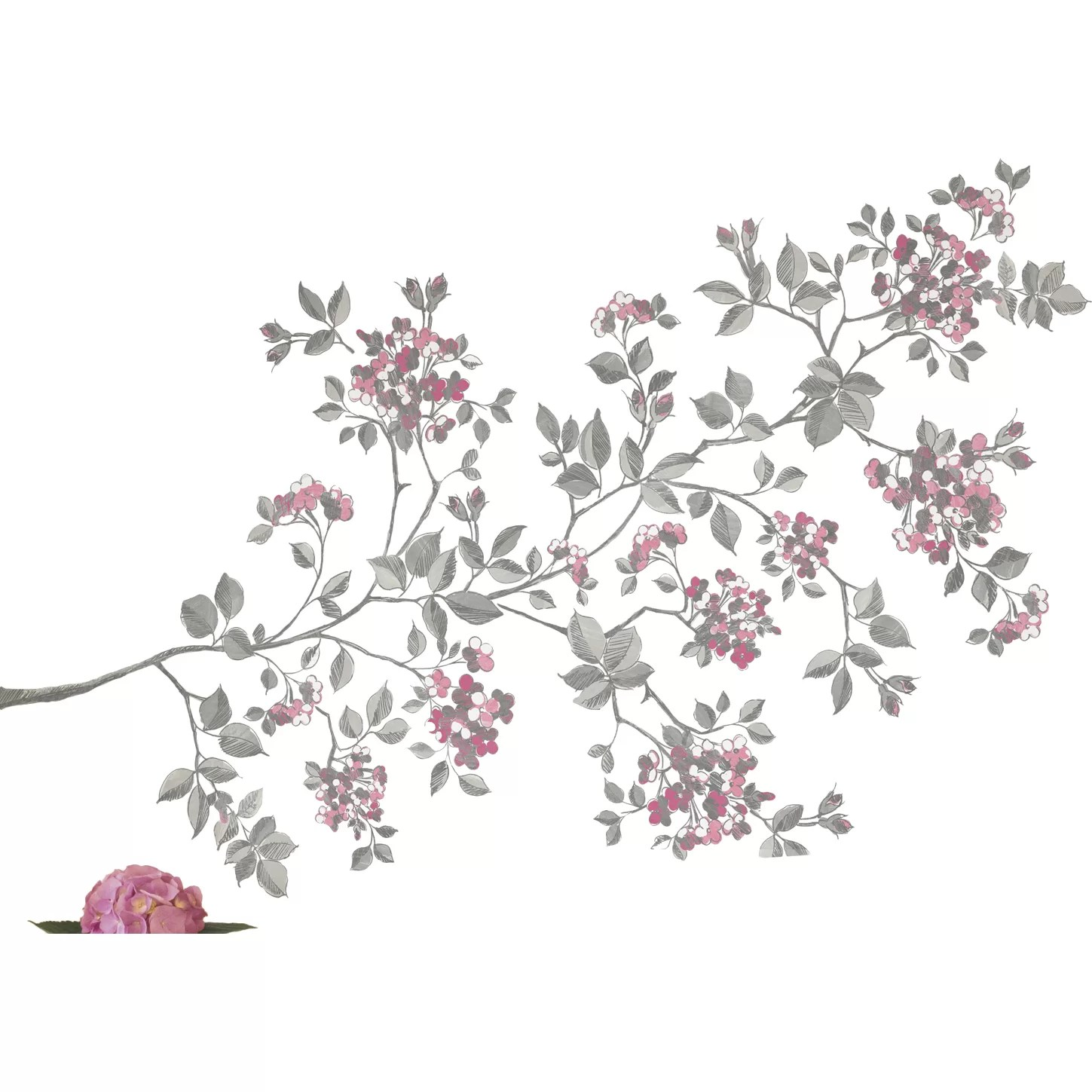 Zipcode Design Marcia Cherry Blossom Large Wall Decal Kit