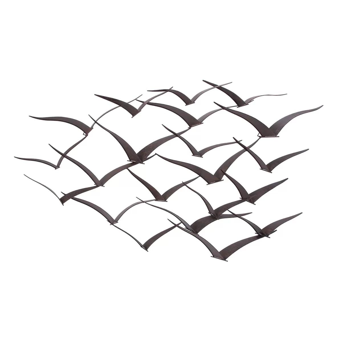 Cole Amp Grey Metal Birds Wall Decor Amp Reviews