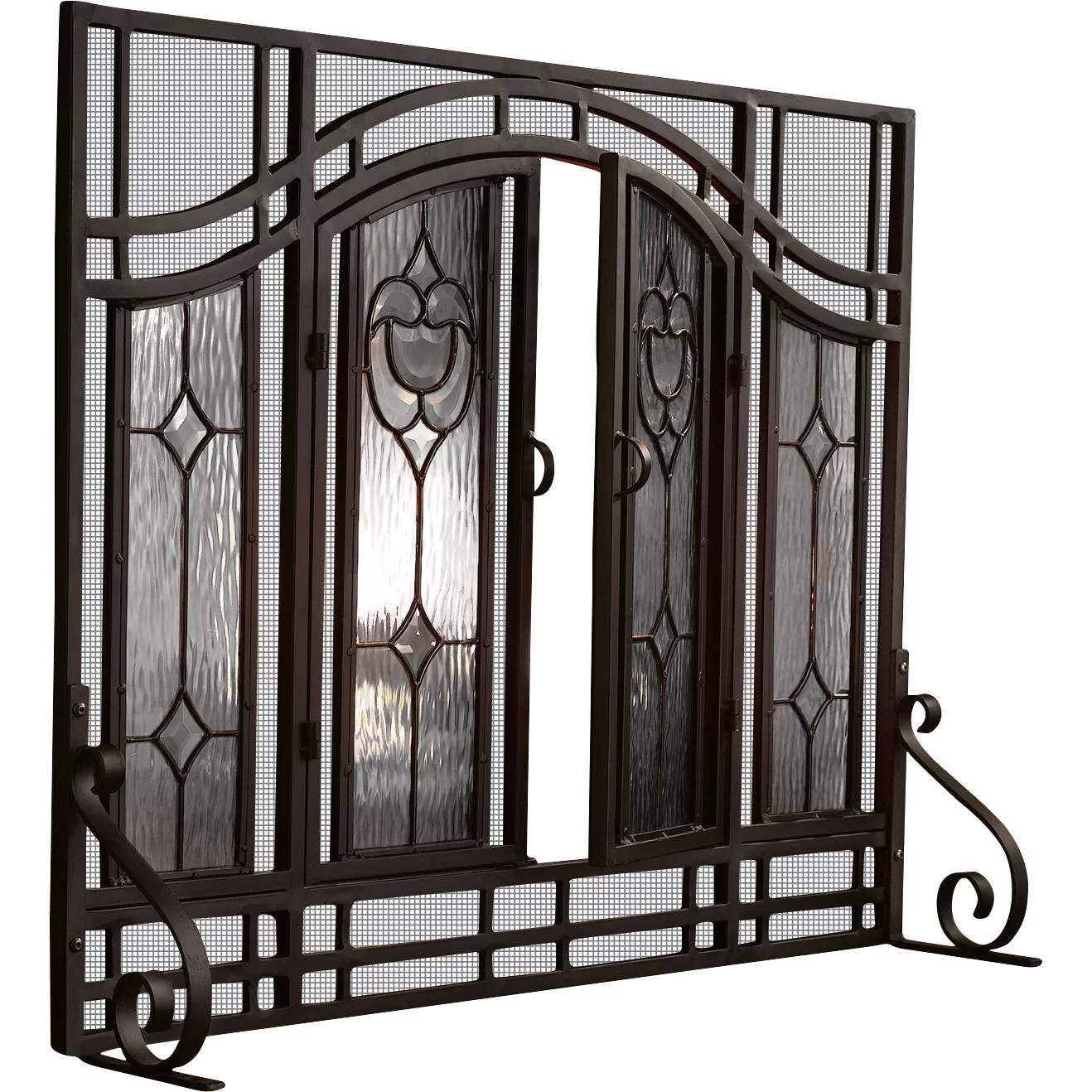 Plow Amp Hearth Glass Fireplace Screen Amp Reviews