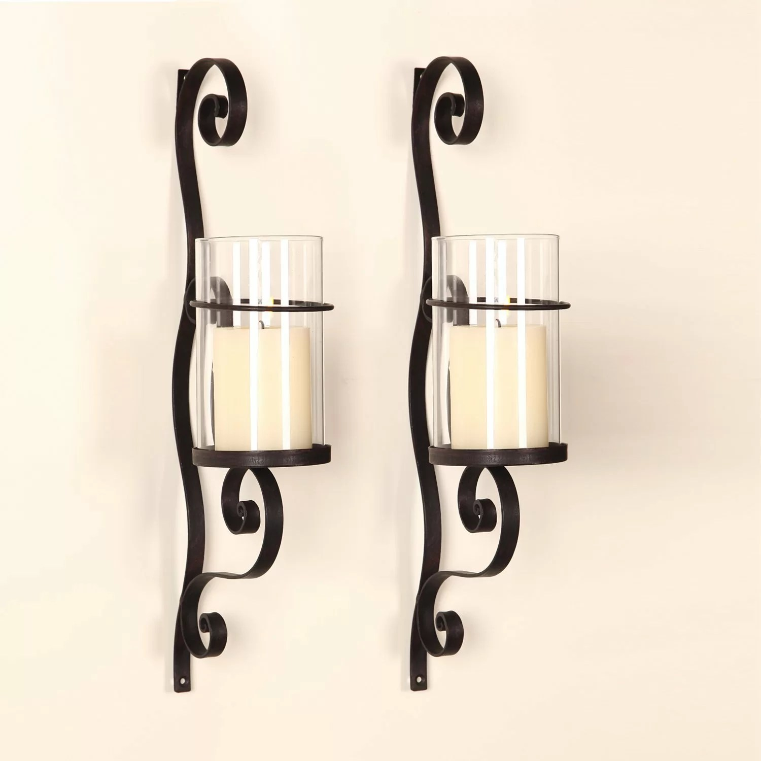 AdecoTrading Iron Wall Sconce Candle Holder & Reviews ... on Wall Sconces Candle Holders id=11223