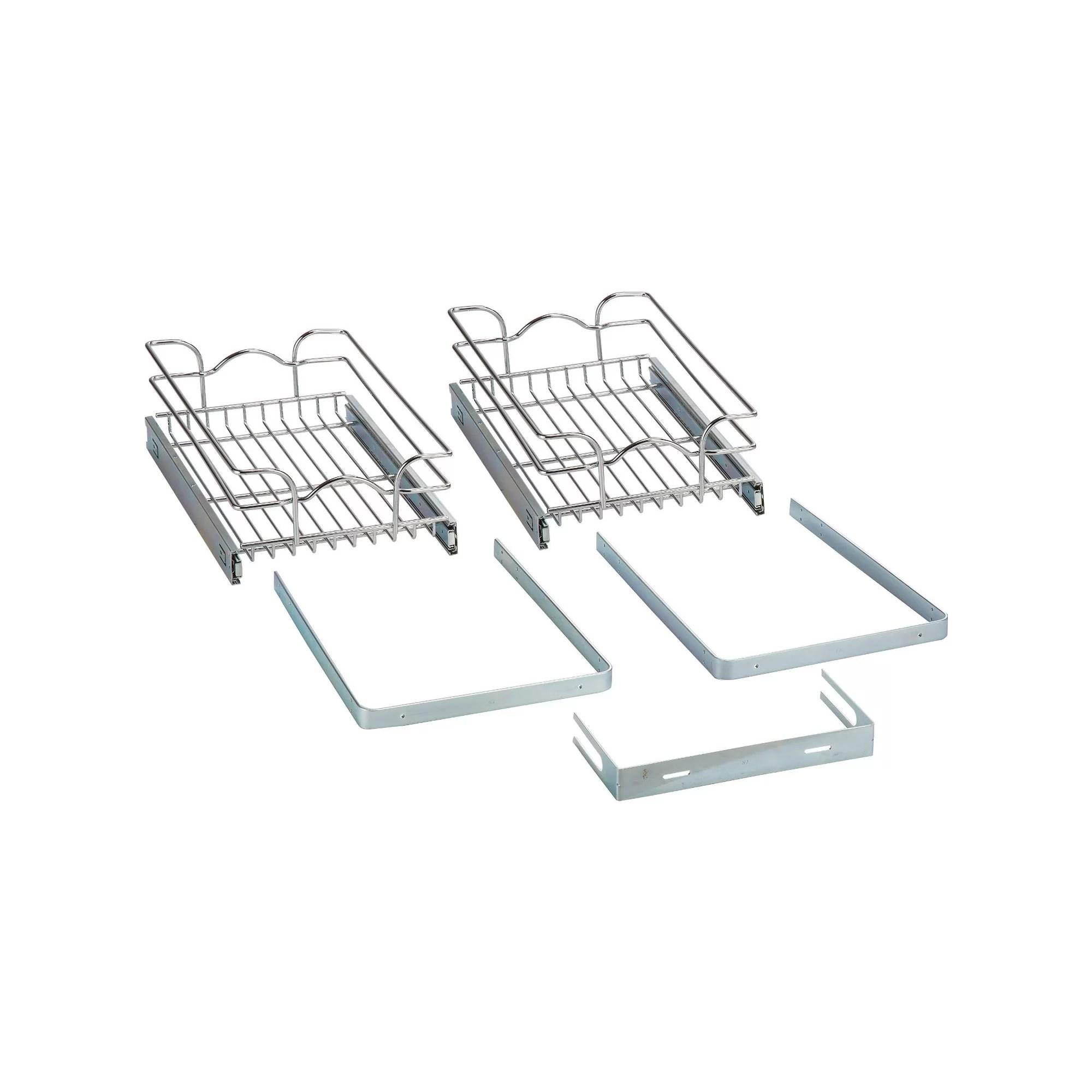 Rev A Shelf 12 X 18 2 Tier Wire Basket Cabinet Organizer Rack Amp Reviews