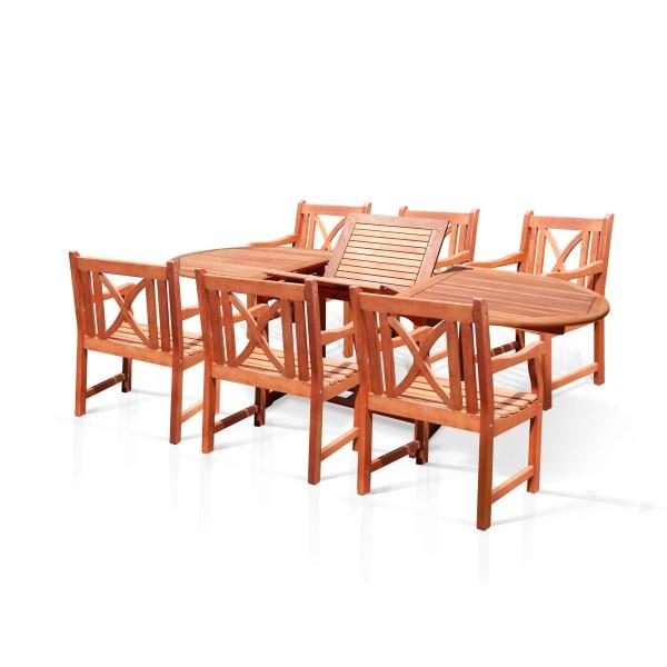 outdoor patio 7 piece dining set Vifah Patio 7 Piece Dining Set & Reviews | Wayfair