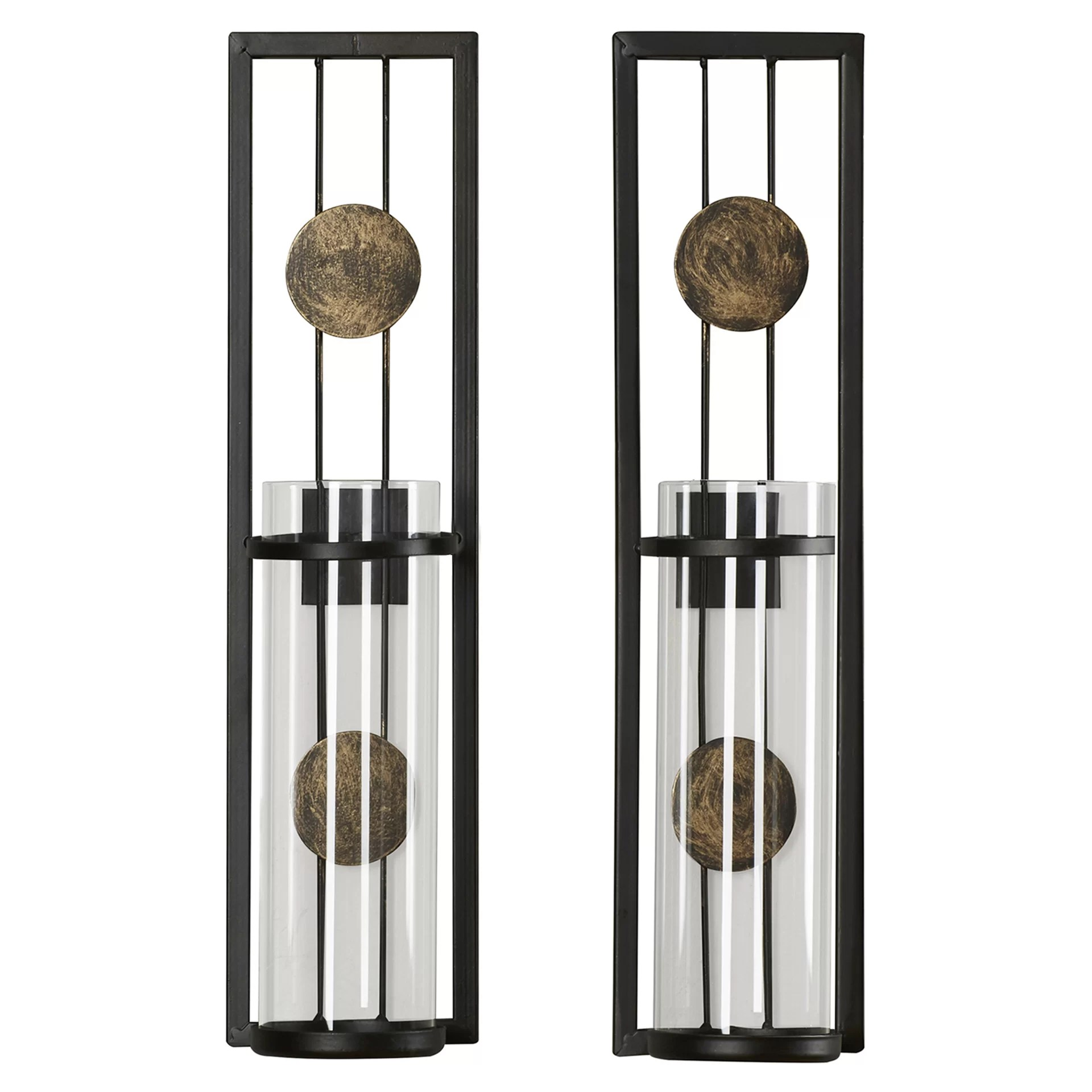 Brayden Studio Contemporary Wall Sconce Candle Holder ... on Modern Wall Sconces id=92410