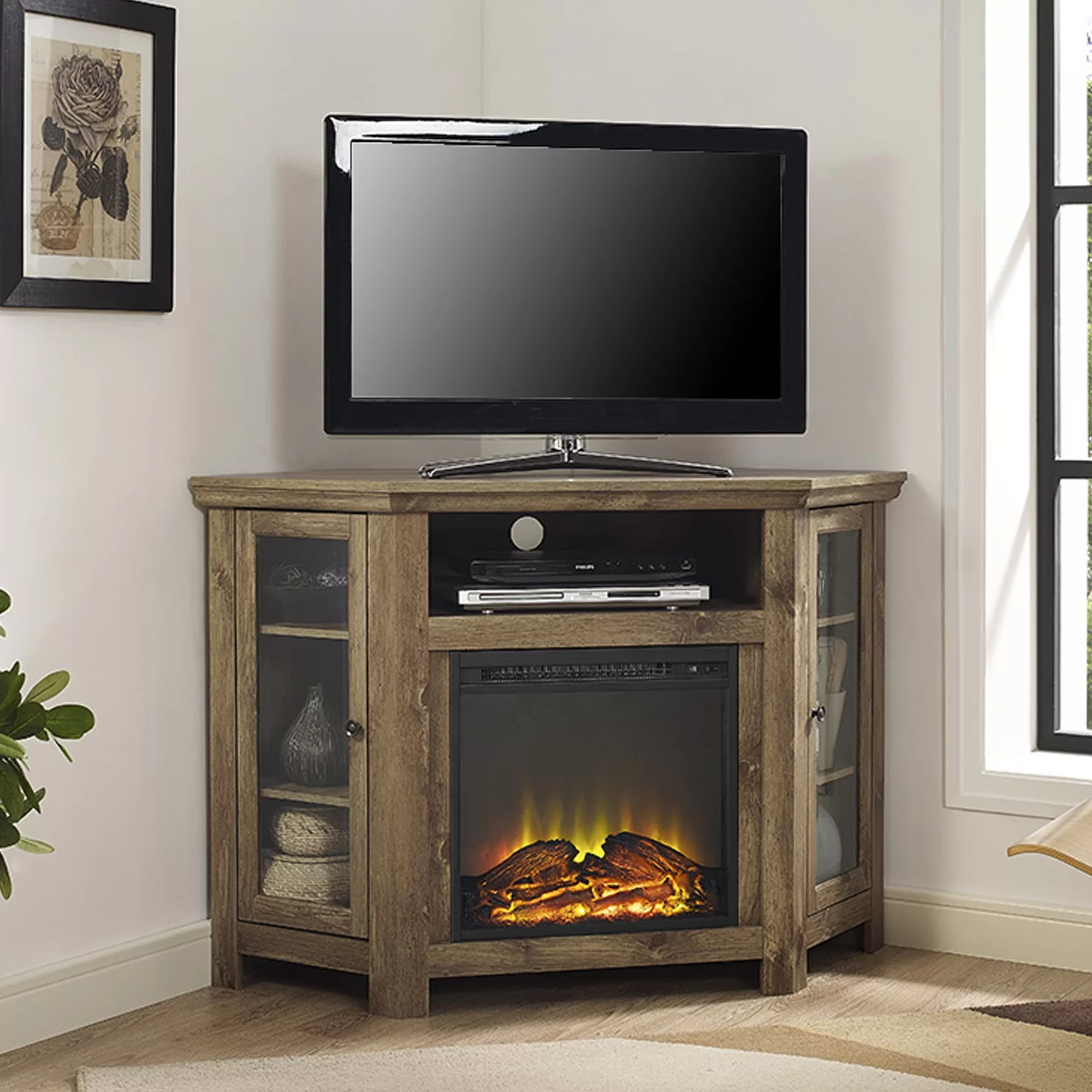title | Corner Electric Fireplace Tv Stand
