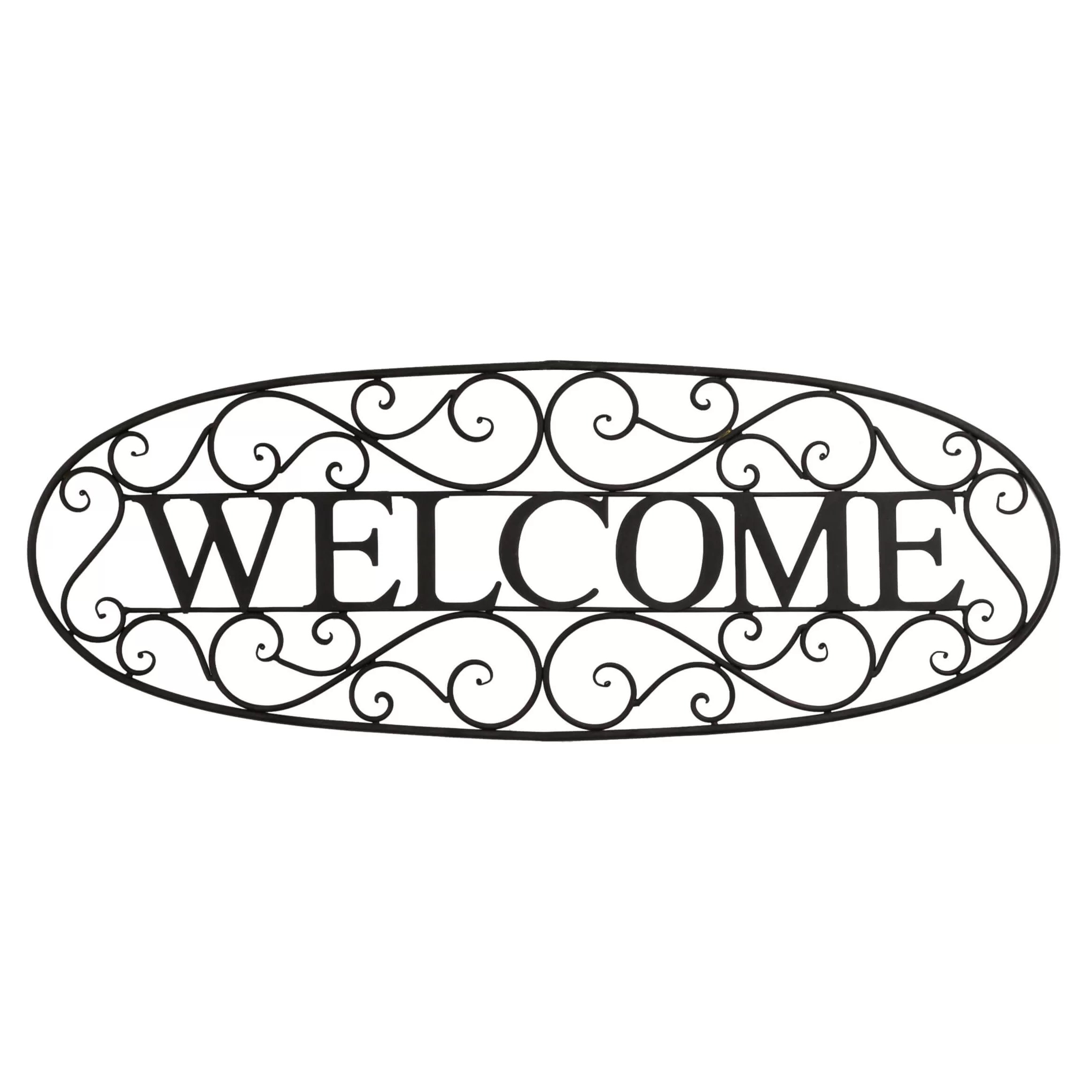 Bayaccents Welcome Sign Wrought Iron Wall Decor Amp Reviews