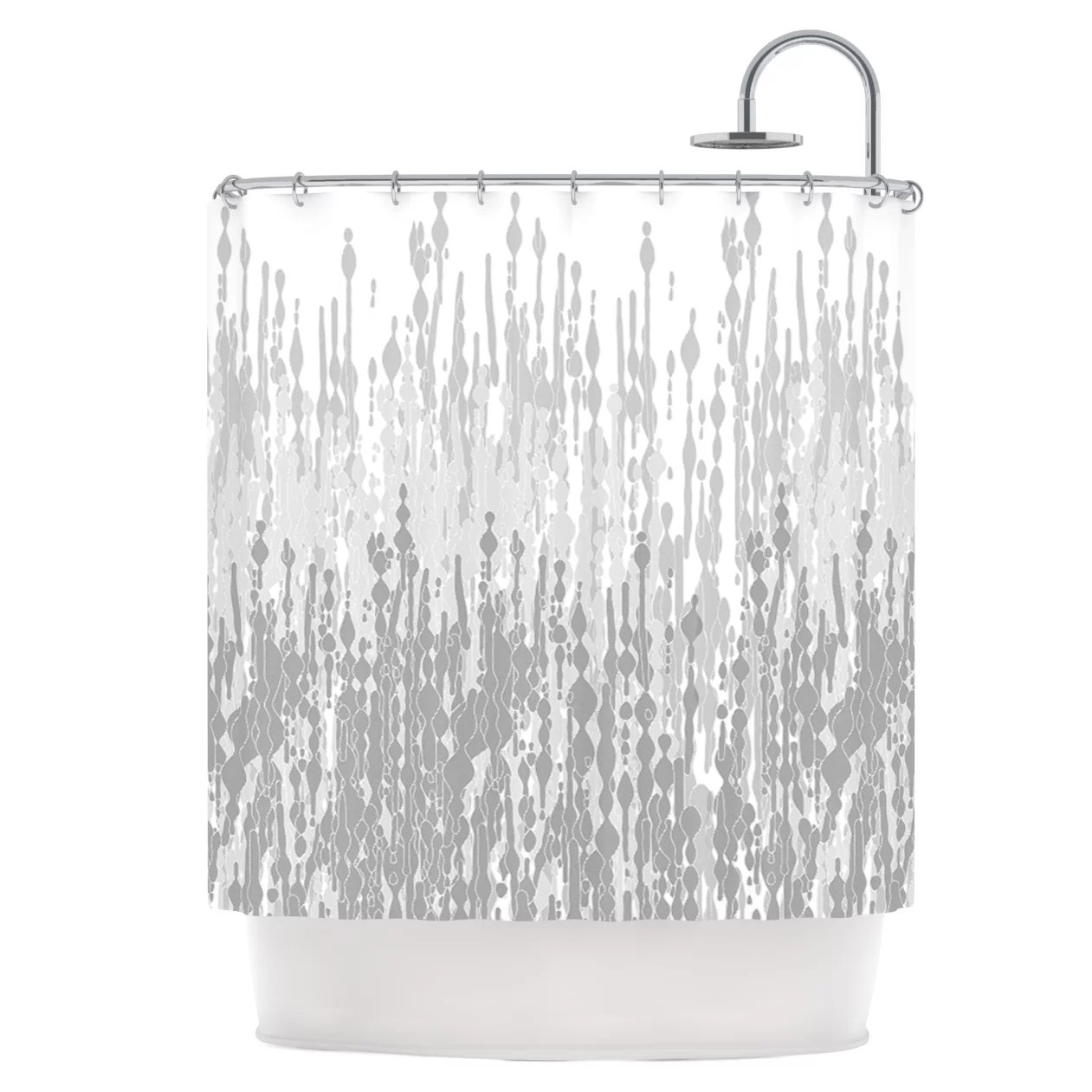 East Urban Home Drops Shower Curtain Wayfair