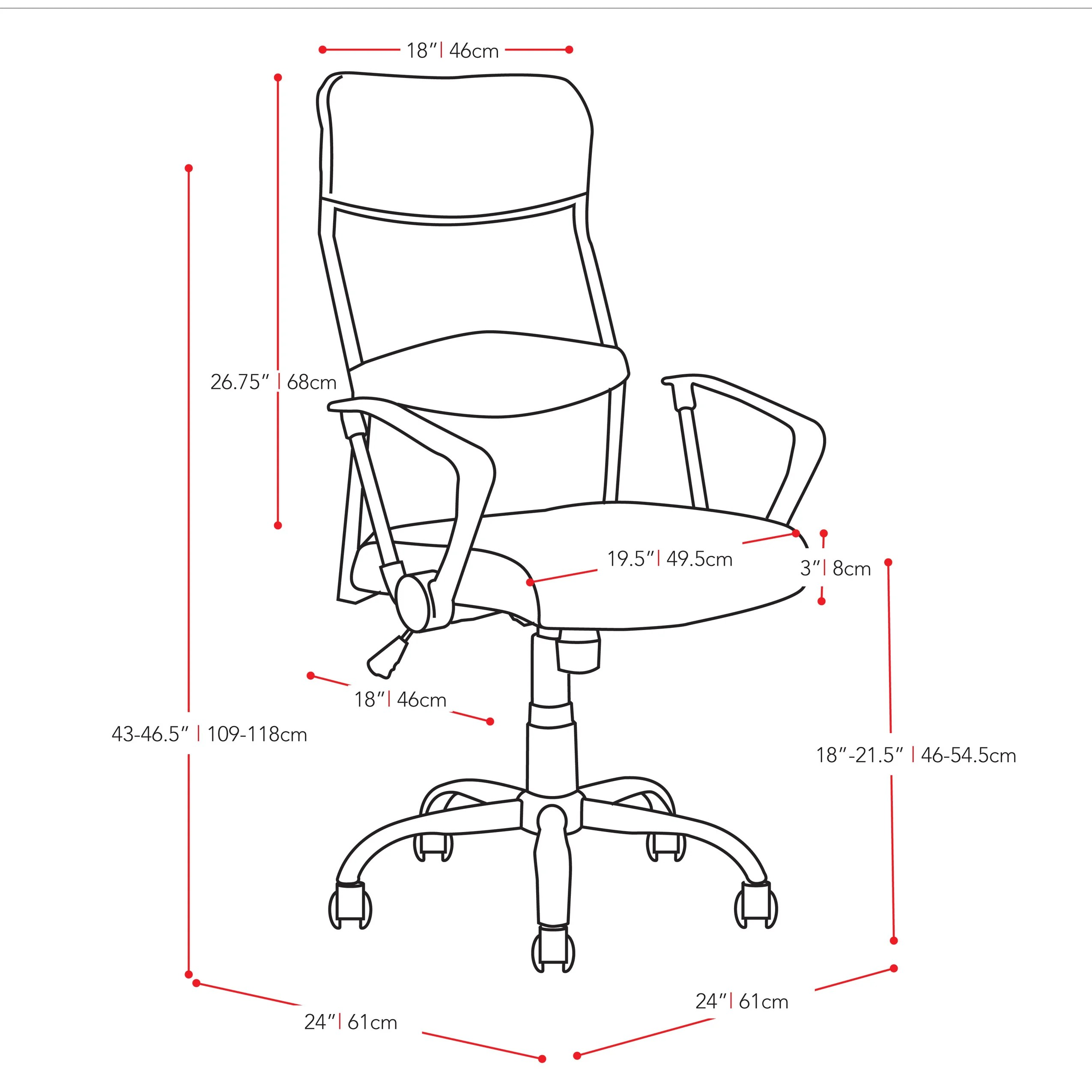 Latitude Run Height Back Mesh Executive Chair With Arms