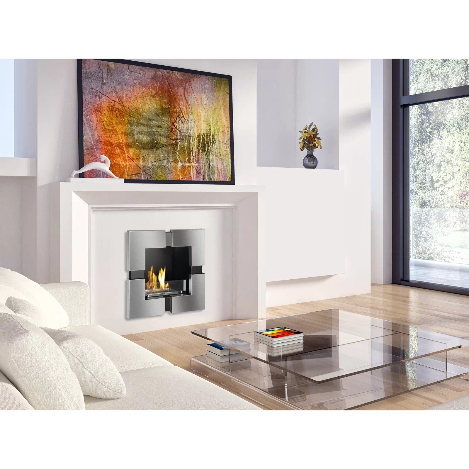 Ignis Tokyo Recessed Ventless Wall Mount Ethanol Fireplace