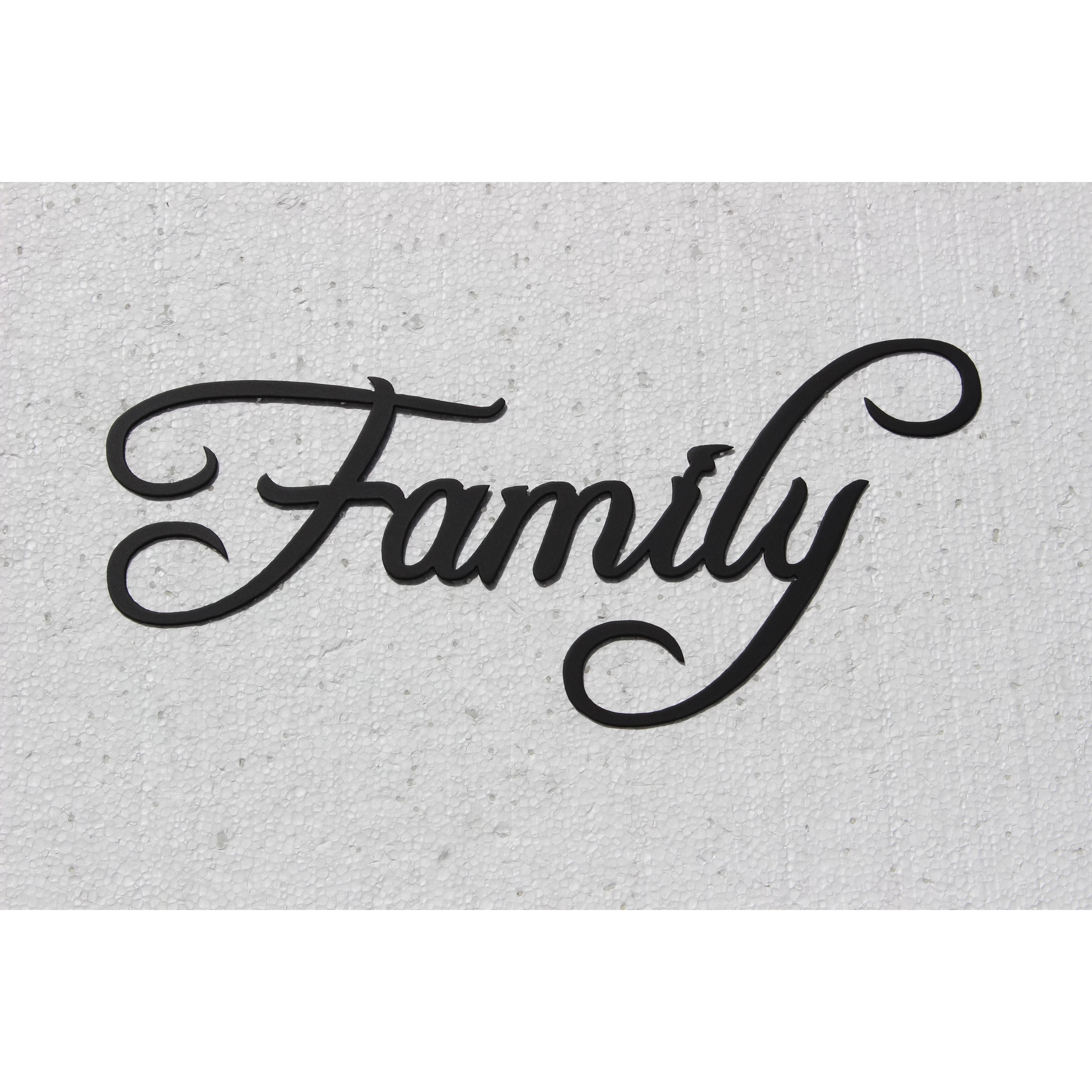 Say It All On The Wall Family Word Sign Fancy Script Wall