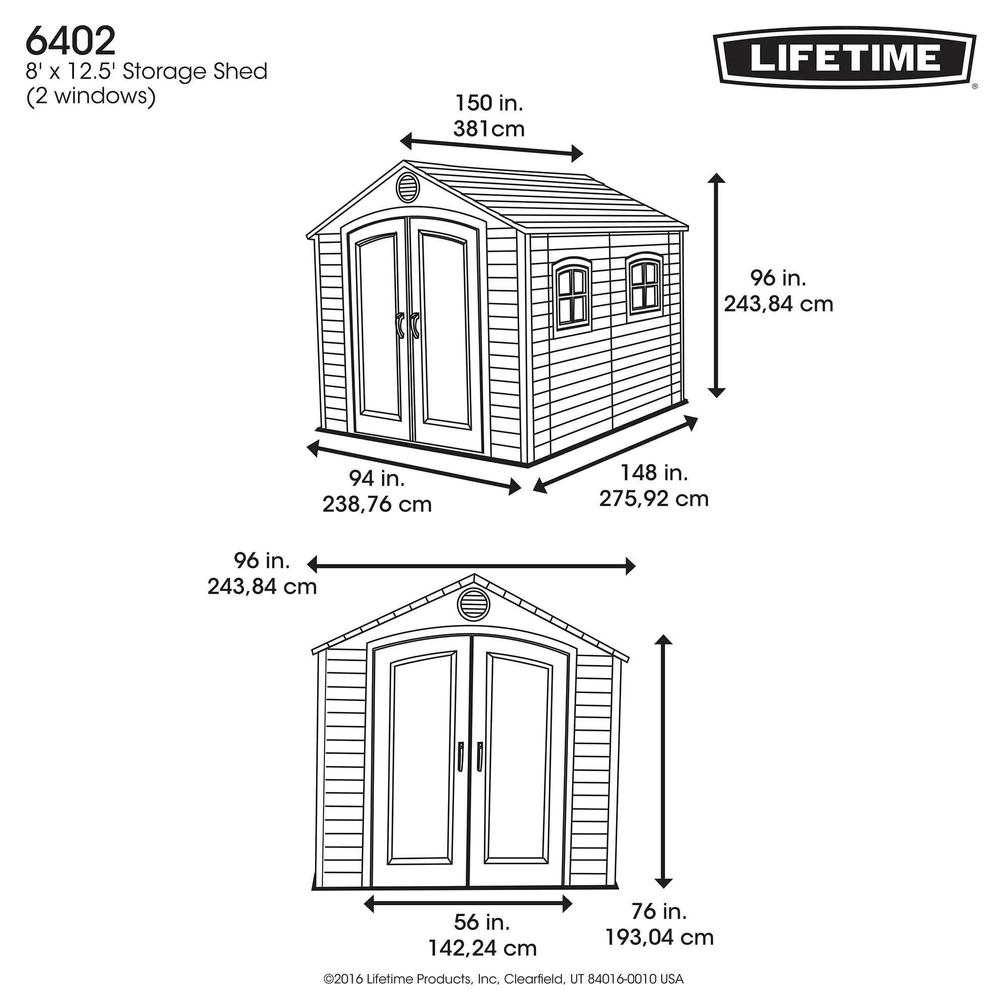 Lifetime 8 Ft W X 12 Ft D Plastic Storage Shed Amp Reviews