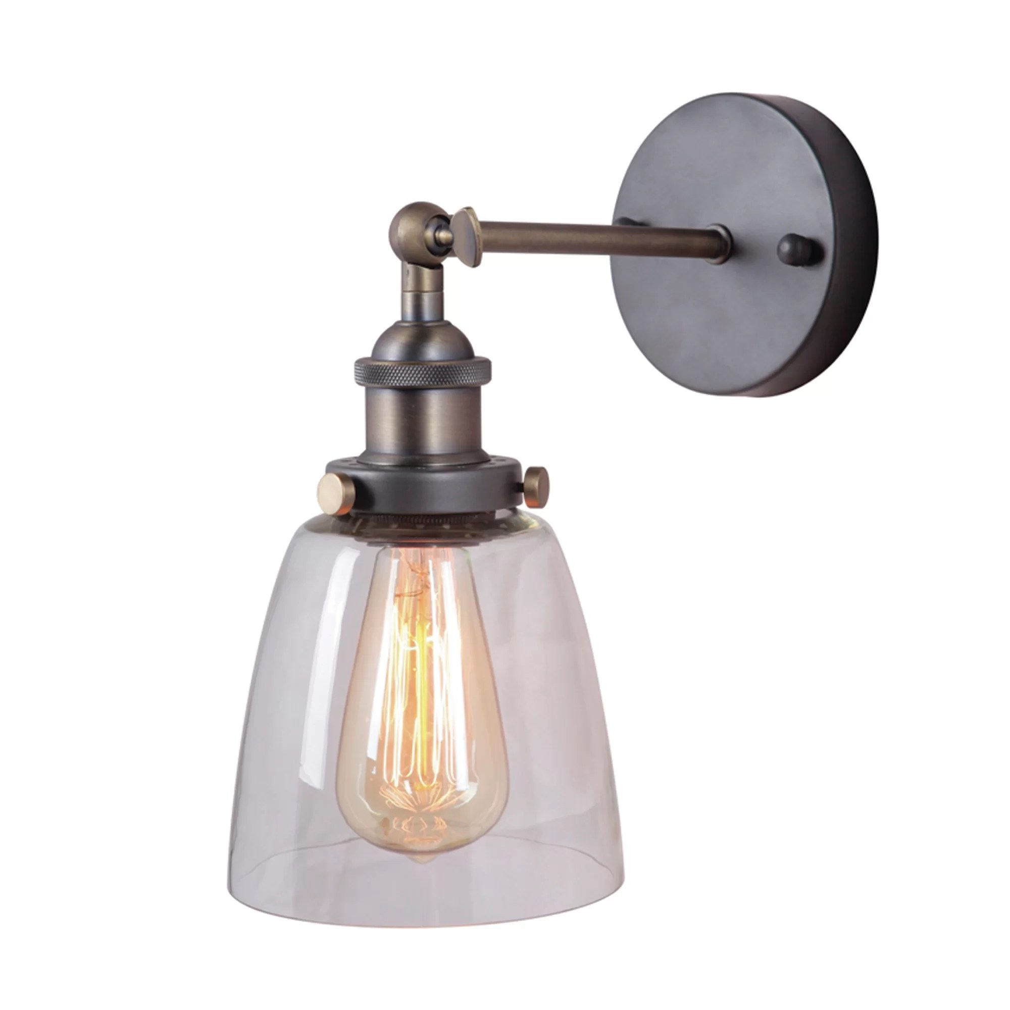 Yosemite Home Decor 1 Light Wall Sconce & Reviews | Wayfair on Wall Sconce Lighting Decor id=13990