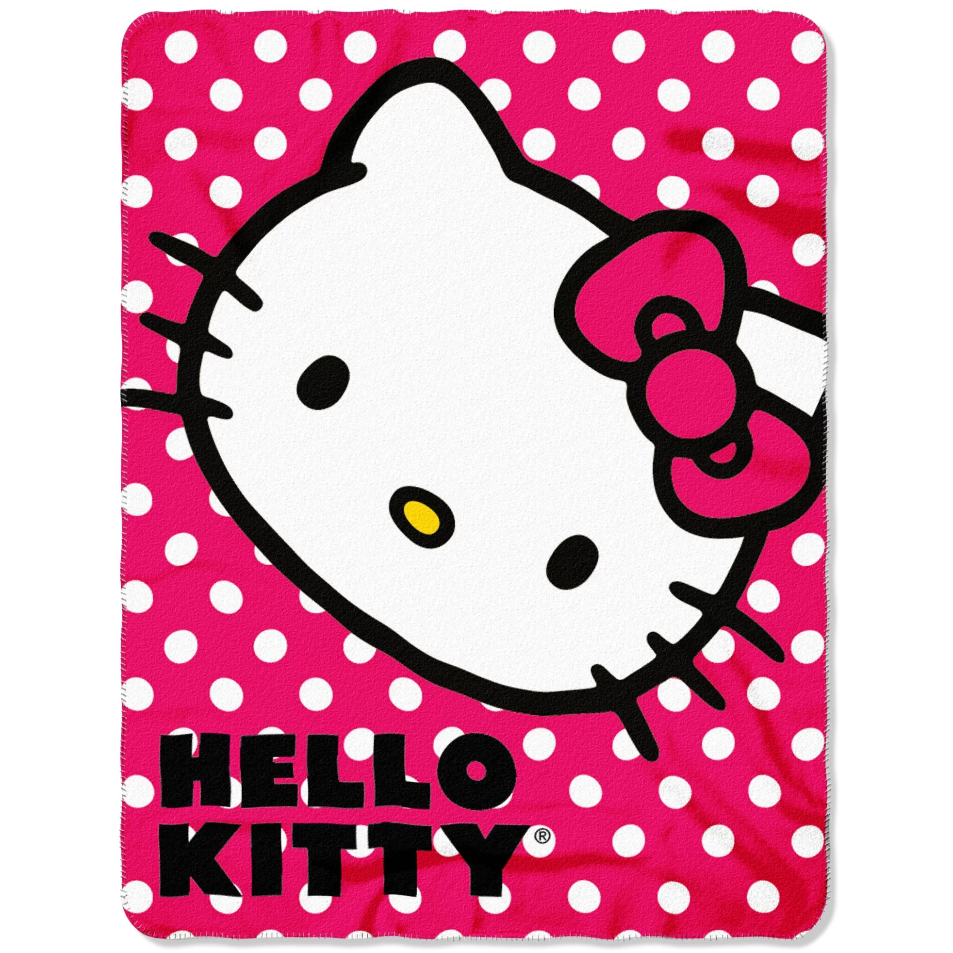 Northwest Co Hello Kitty Polka Dot Throw
