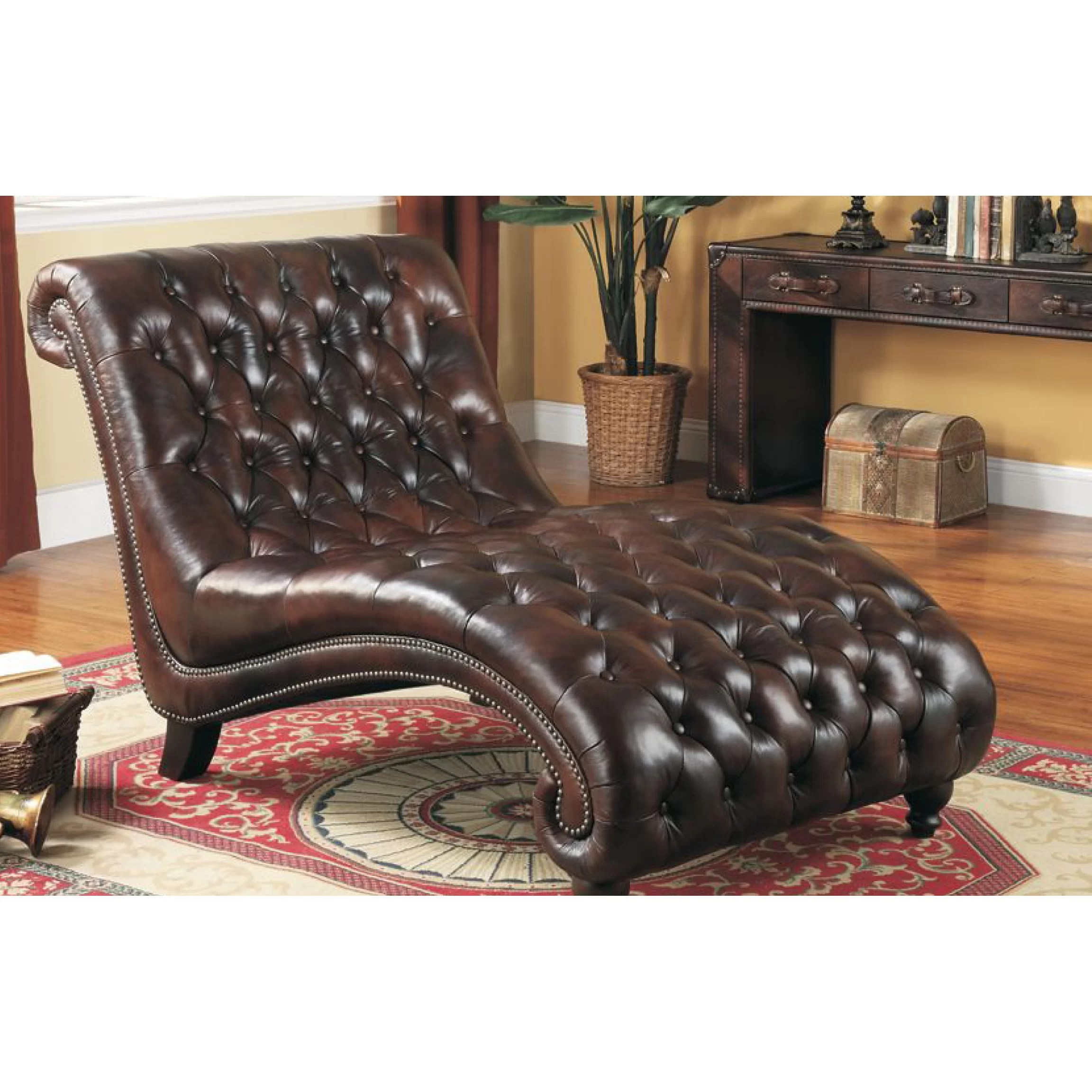 Lazzaro Leather Chaise Lounge Amp Reviews Wayfair