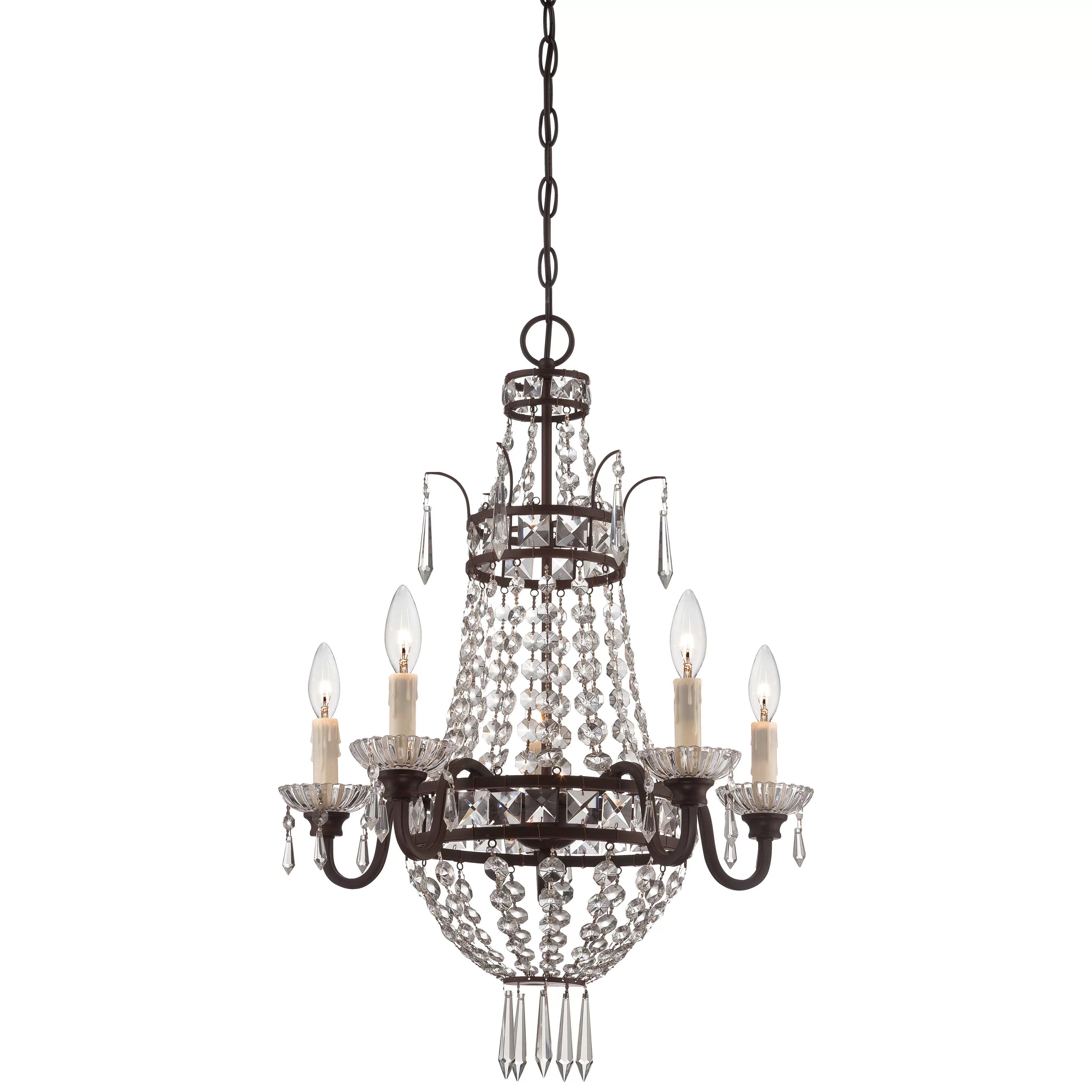Minka Lavery 5 Light Crystal Chandelier Amp Reviews