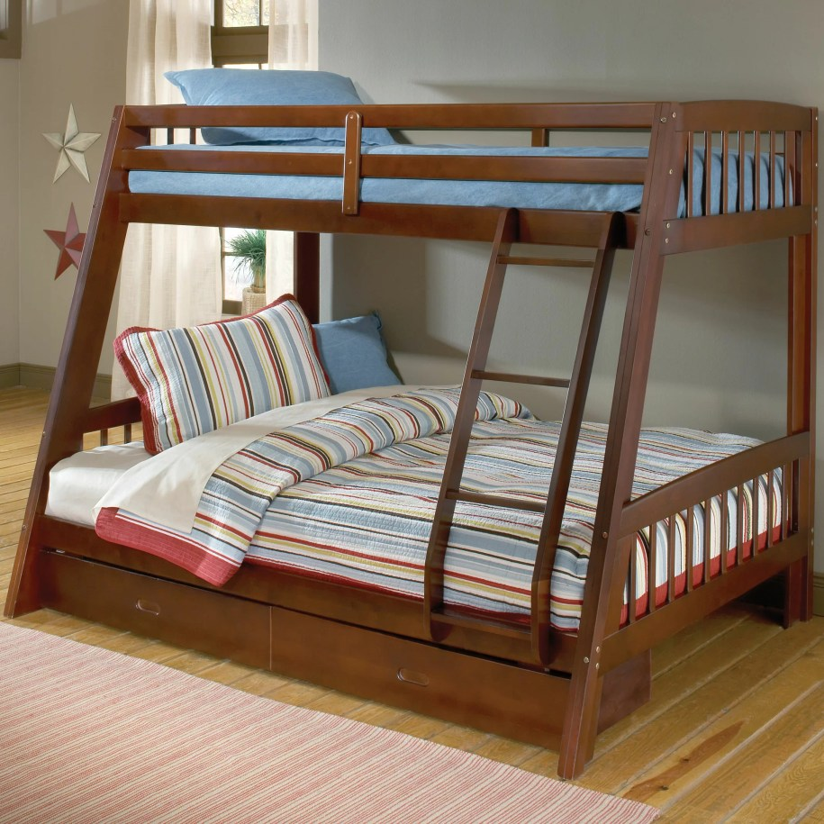 Rockdale Twin over Full Bunk Bed with Storage   Wayfair