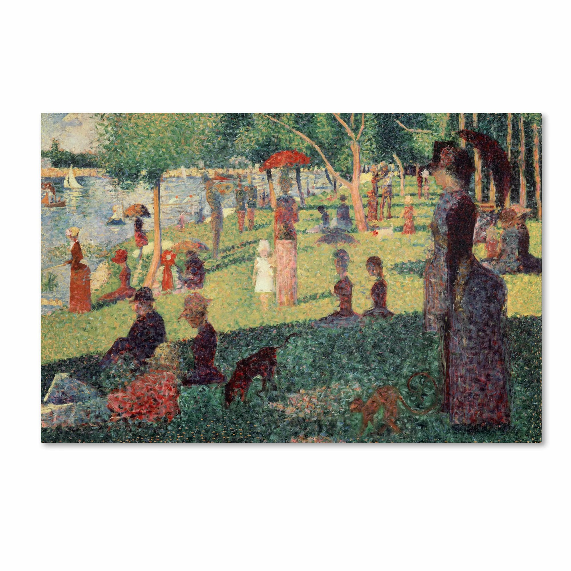Study On La Grande Jatte By Georges Seurat Painting