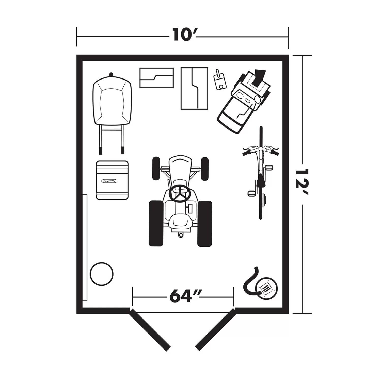 Handy Home Berkley 10 Ft W X 12 Ft D Wood Storage Shed