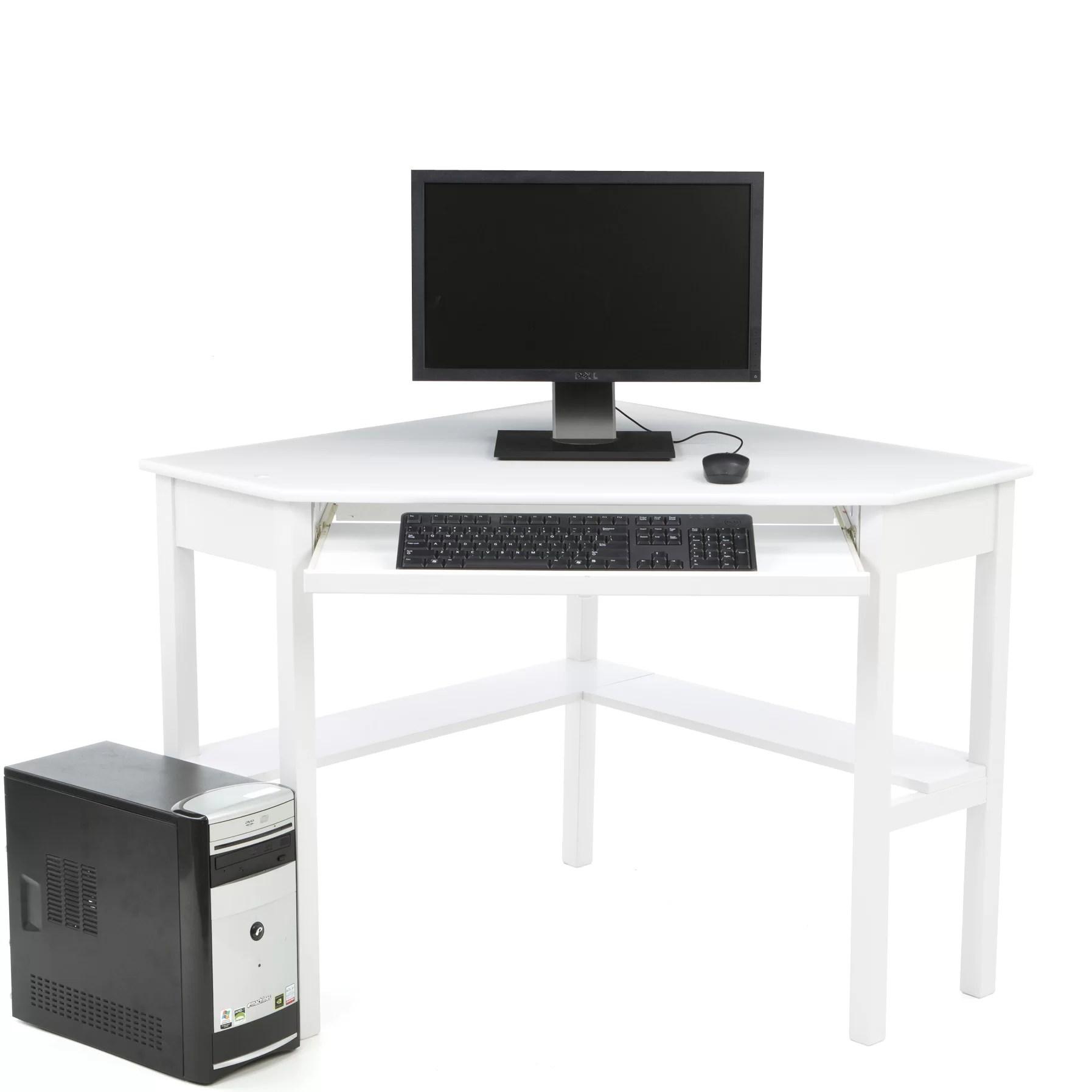 Red Barrel Studio Levin Computer Corner Desk In White