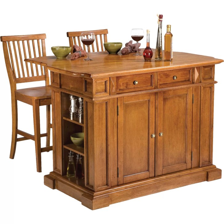 Darby Home Mattice Piece Kitchen Island Set