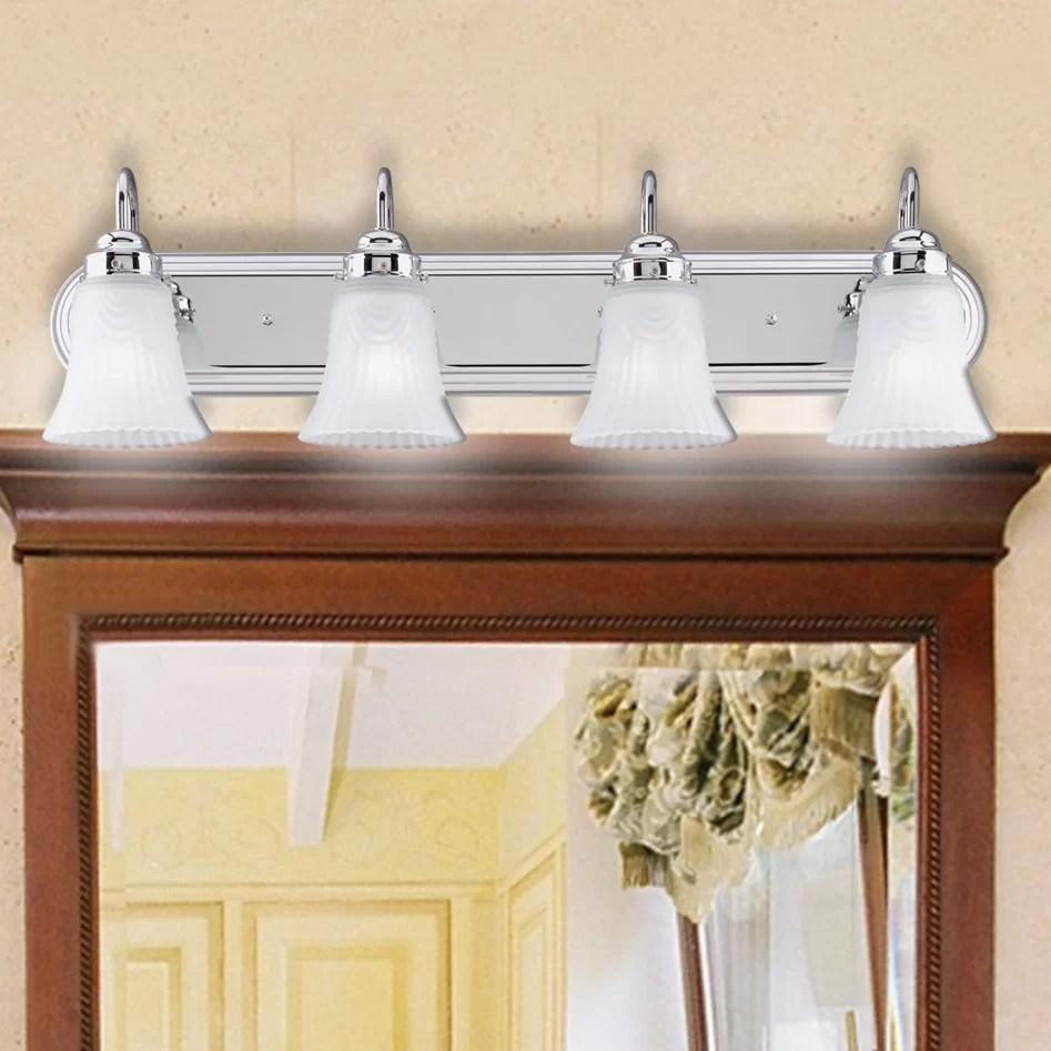 4 Light Bathroom Vanity Light   Wayfair on Wayfair Bathroom Sconces id=23781