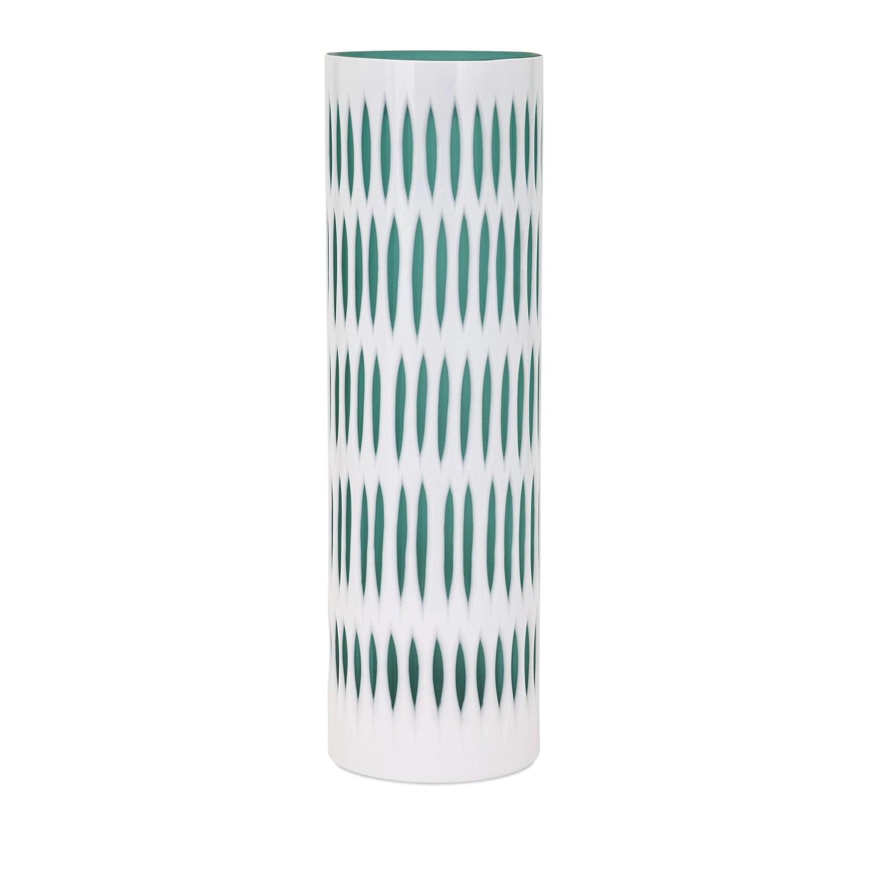 Midcentury Modern Etched Vase