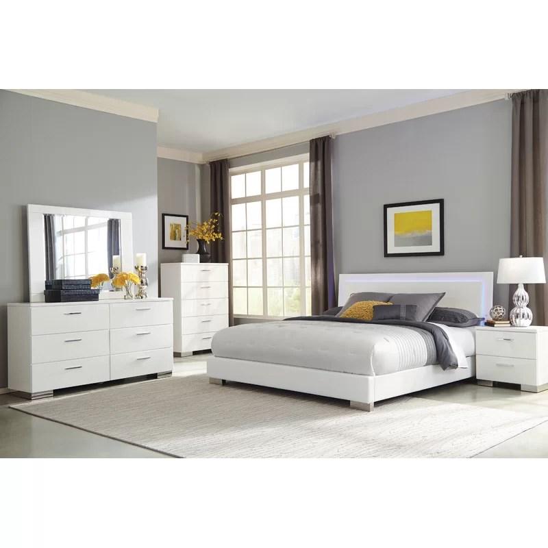 combray queen platform 4 piece bedroom set
