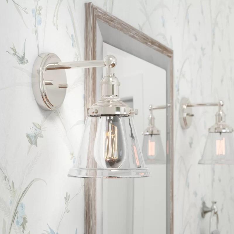Laurel Foundry Modern Farmhouse Sandy Springs 1-Light Bath ... on Wayfair Bathroom Sconces id=37829